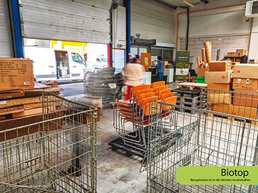 Biotop - Récupération et tri des déchets revalorisables