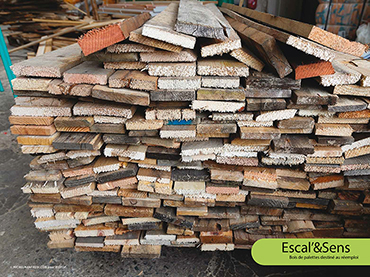 Escal'&Sens - Bois de palettes destiné au réemploi