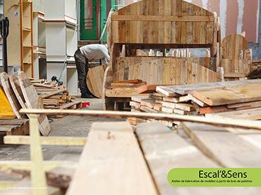 Escal'&Sens - Atelier de fabrication de mobilier à partir de bois de palettes
